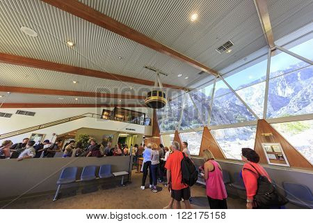 Palm Springs Aerial Tramway Cabin. At Valley Station