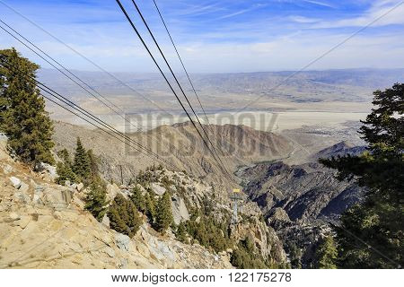 Palm Springs Aerial Tram Mountain Station View From Top