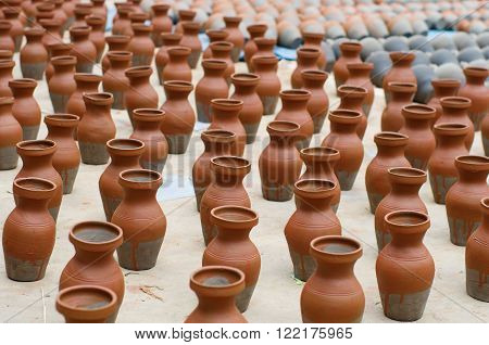 Pottery Products At  A Market