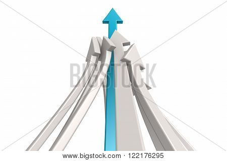Leading blue arrow image with hi-res rendered artwork that could be used for any graphic design.