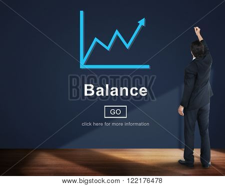 Balance Business Growth Graph Concept
