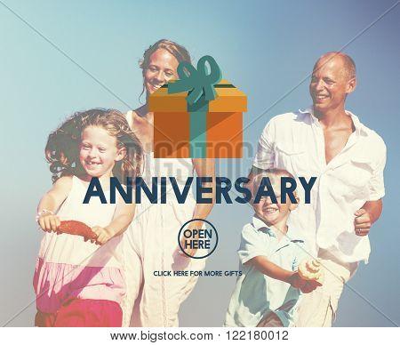 Anniversary Celebrate Annual Enjoy Event Memory Concept