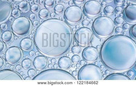 water bubbles abstract light illumination on surface