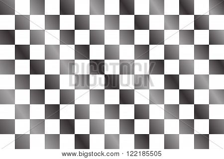 Checkered flag vector illustration for sport background.