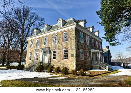 Bronx, New York - January 31, 2016: The Van Cortlandt House, which is the oldest building in The Bronx, New York City. The house was built in the Georgian style by Frederick Van Cortlandt in 1748 for his family.