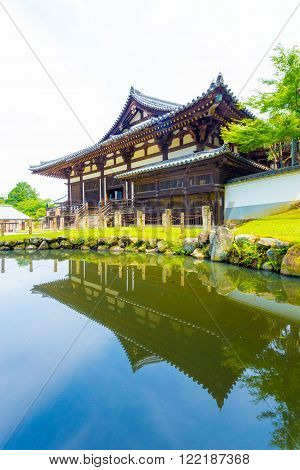 Sangatsu-do Hall Entrance Pond Reflection V