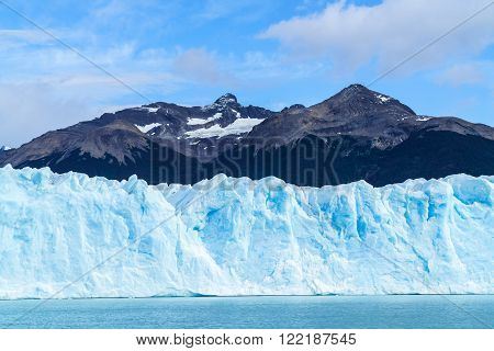 Front view of Perito Moreno Glacier in Argentinian Patagonia, Argentina
