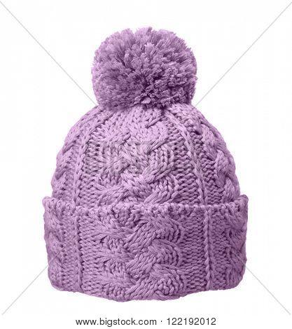 lilac winter hat