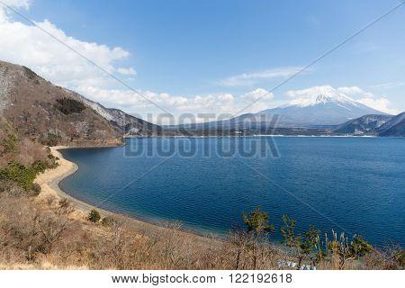 Fujisan and lake