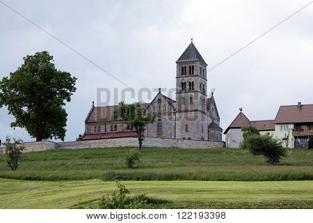 HOHENBERG, GERMANY - MAY 07: The parish church of St. James in Hohenberg, Germany on May 07, 2014.