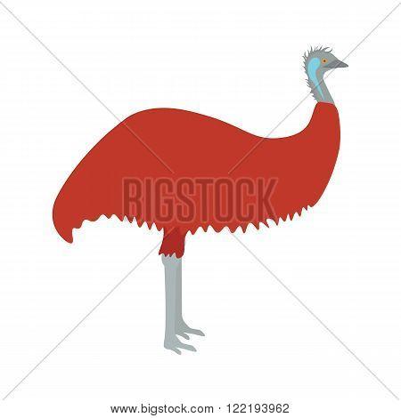 Emu vector illustration. Emu bird on white background. Emu vector. Emu illustration. Emu isolated vector