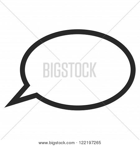 Hint Cloud vector icon. Picture style is flat hint cloud icon drawn with gray color on a white background.