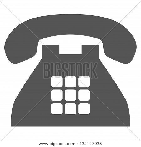 Tone Phone vector icon. Picture style is flat tone phone icon drawn with gray color on a white background.