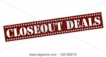 Rubber stamp with text closeout deals inside vector illustration