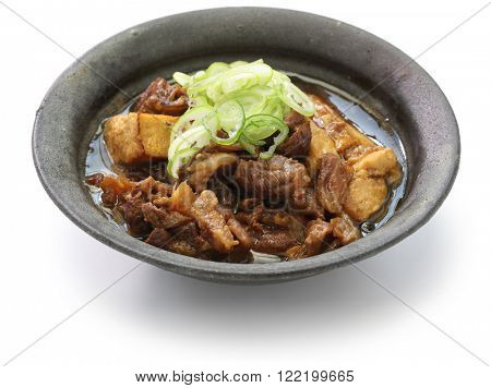 simmered beef and tofu, japanese food