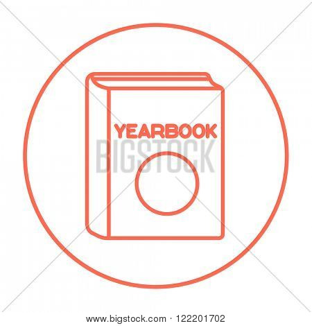 Yearbook line icon.