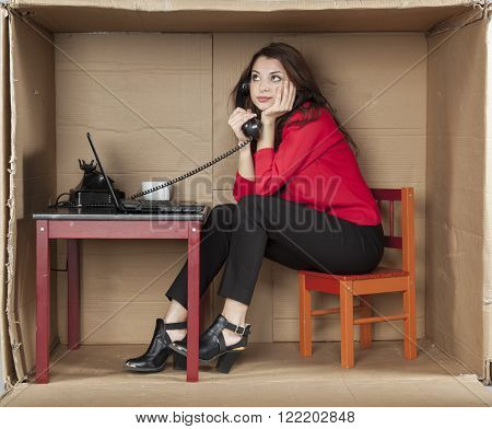 Business Woman Call On The Phone