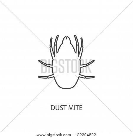 Icon dust mite. The outline of a dust mite.