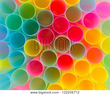 Abstract Background From Colorful Straws