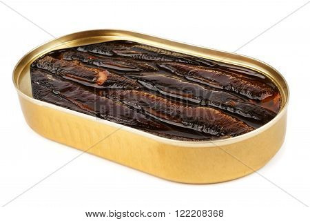 Open Oval Can Of Sprats