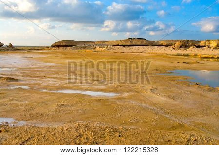 The desert after raining in sultanate Oman