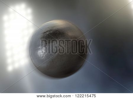 Shotput In Night Stadium