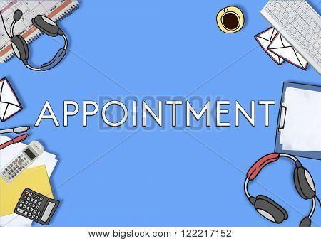 Appointment Agenda Meeting Arrangement Concept