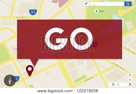 Go Going Navigation Direction Concept