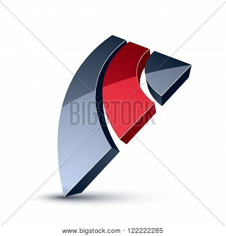 3D Unusual Company Idea Design Element, Abstract Vector Geometric Symbol. Innovation And Technology