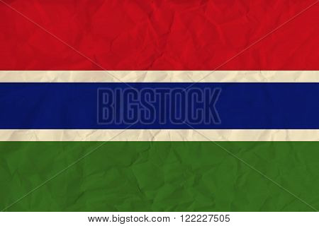 Vector image of the Gambia paper  flag