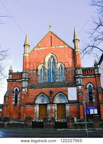 The Shaftesbury Square Reformed Presbyterian Church in Belfast (UK)