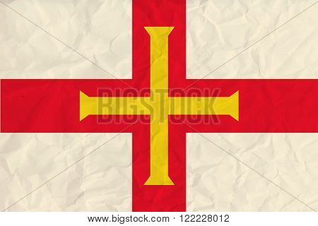 Vector image of the Guernsey paper  flag