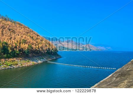 Srinakarin Dam is a baeutifull Dam at Kanjanaburee province,thailand