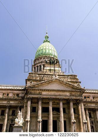 Congreso Nacional dome in Buenos Aires argentina