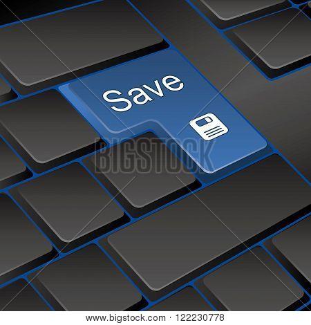 vector keyboard. key save