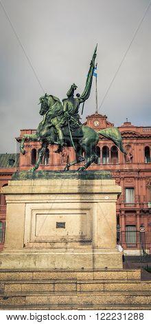 General Manuel Belgrano statue in Buenos Aires