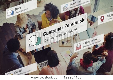 Customer Feedback Opinion Reply Report Concept