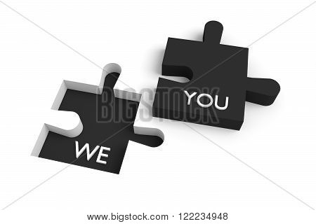 Missing puzzle piece we and you black