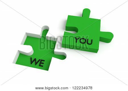 Missing puzzle piece we and you green