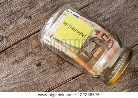 Concept of retirement planning or retirement savings.