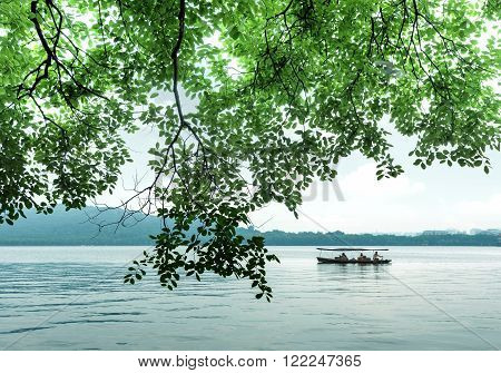The scenic West Lake in Hangzhou China