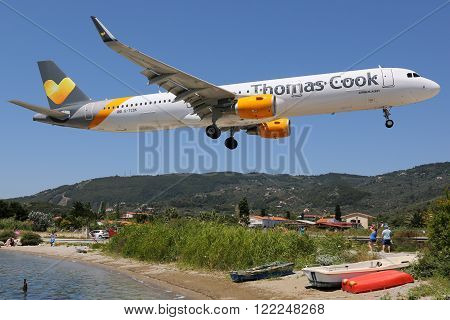 Thomas Cook Airlines Airbus A321 Airplane Skiathos Airport