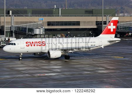 Swiss Air Lines Airbus A320 Airplane Zurich Airport