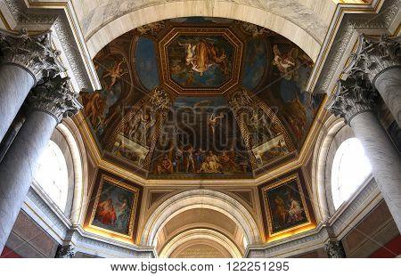 VATICAN CITY, VATICAN, JUNE 15, 2015 : interiors and architectural details of the Vatican museum, june 15, 2015, in Vatican city, Vatican