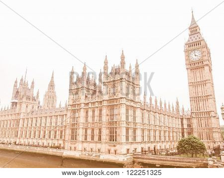 Houses Of Parliament Vintage