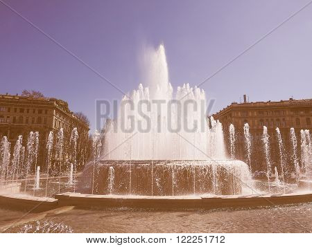 Fountain In Milan Vintage