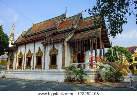 Wat Tung Yu is a small Buddhist monastery near Wat Phra Singh in the old city of Chiang Mai. Thailand