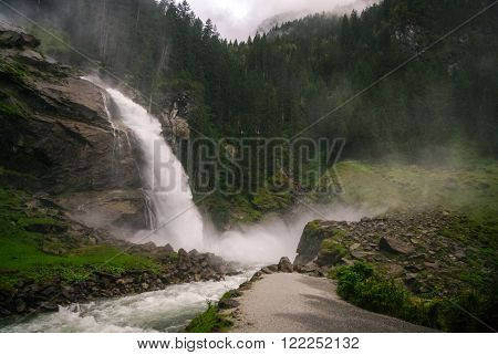 Krimmler (krimml) Waterfall. Highest Fall In Austria (tirol) - Alps Beautiful Mountain, Hohe Tauern