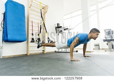 Black Man In The Gym