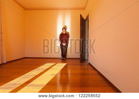 Architecture, room with man